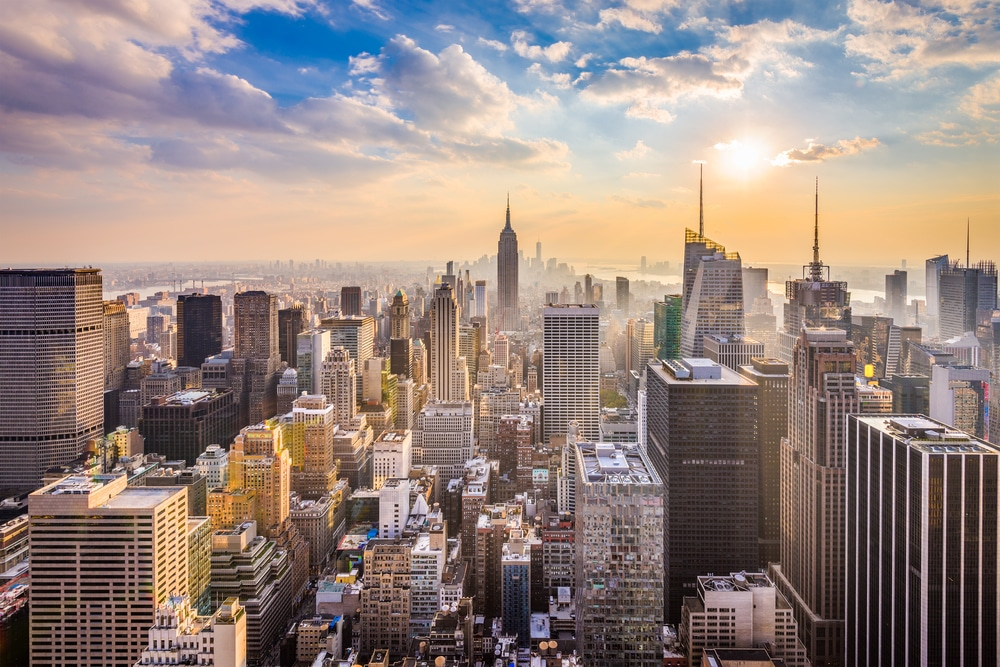 View from the top of buildings in New York, United States