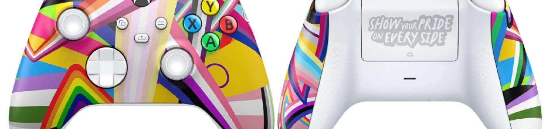 Xbox revela controle personalizado em comemoração do Mês de Orgulho LGBTQIA+. Imagem: Divulgação/Microsoft