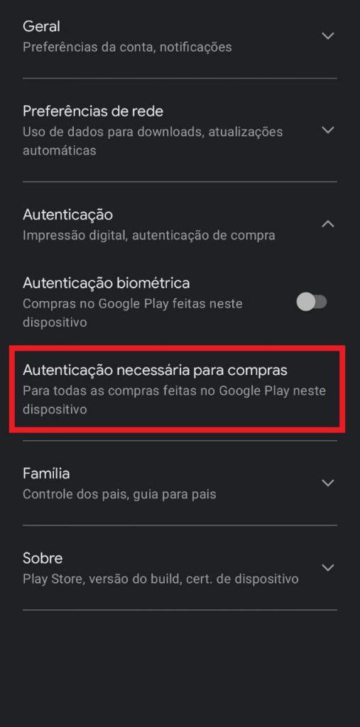Print da loja de aplicativos dos celulares Android