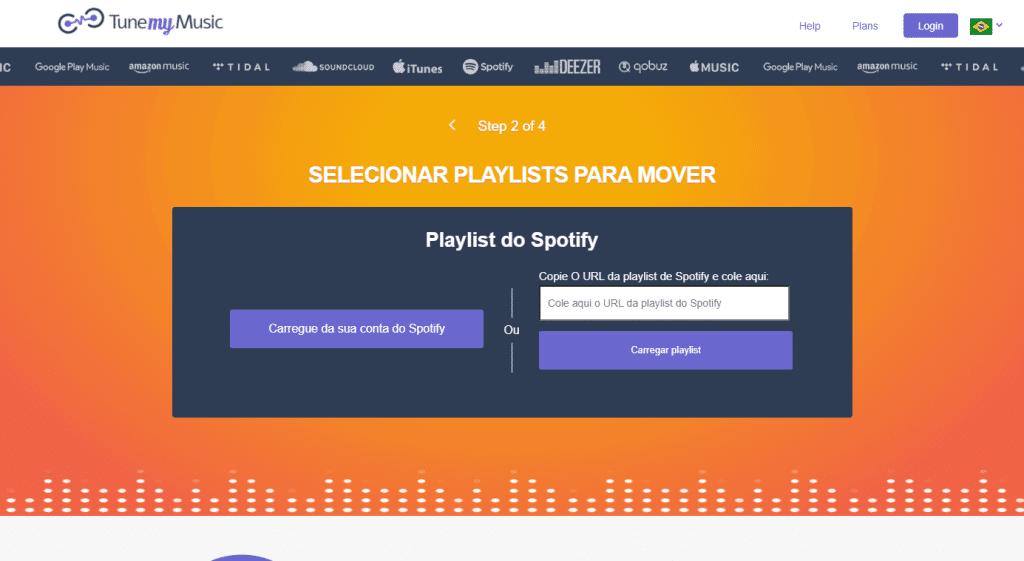 Escolhendo a playlist para importação
