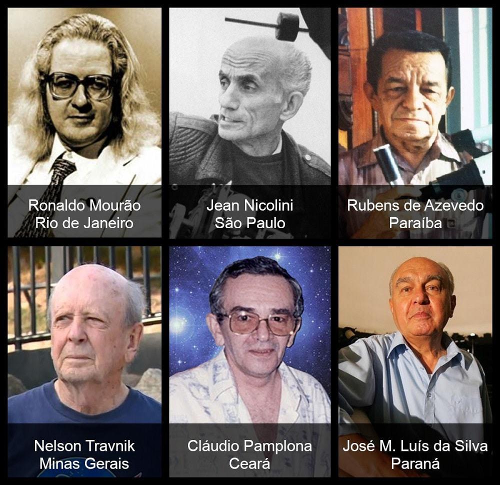 Principais astrônomos da equipe brasileira no Programa LION