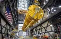 Nasa termina montagem de megafoguete que levará mulheres à Lua