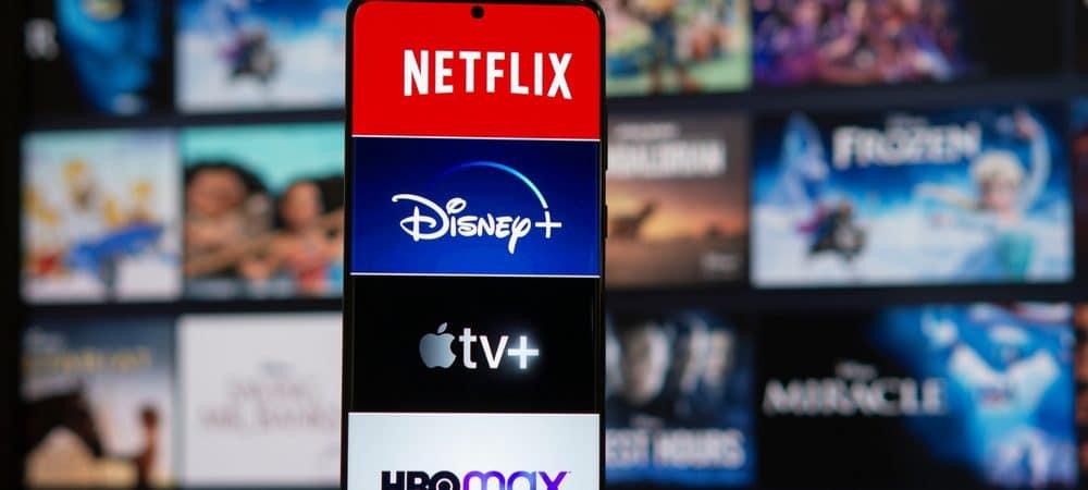 Logo de diversos serviços de streaming