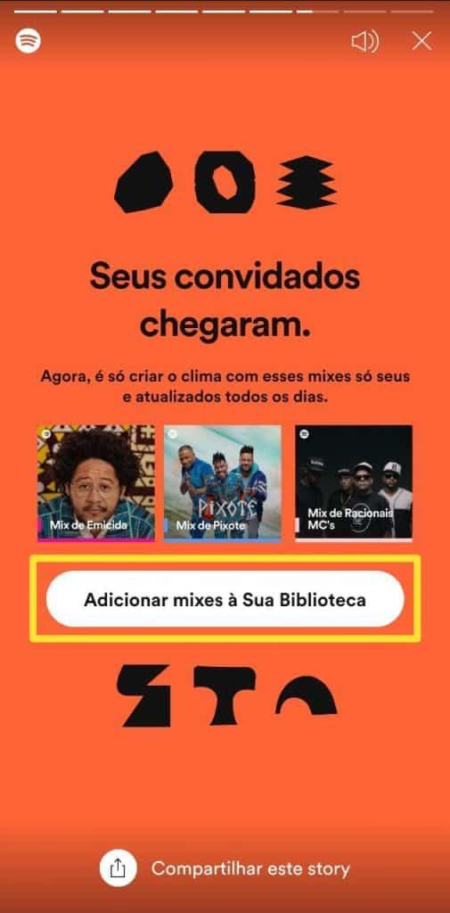 Print do Spotify