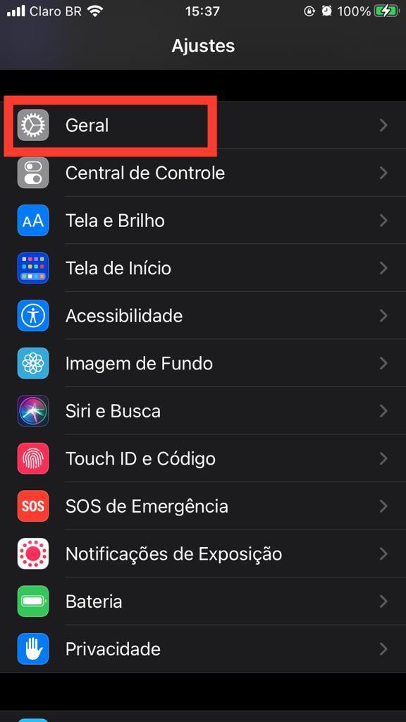 Print do sistema iOS