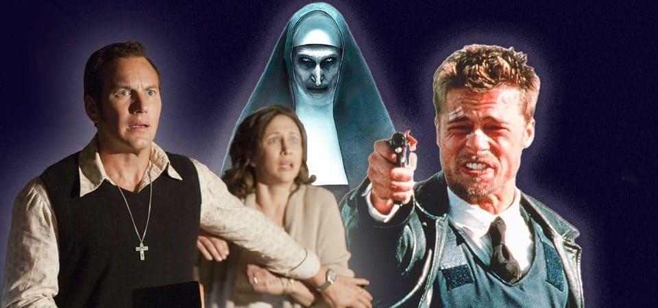 'Invocação do Mal 3' é inspirado em 'Se7en: os Sete Crimes Capitais', diz diretor. Imagem: Montagem/Screenrant