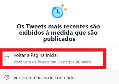 Tela do Twitter