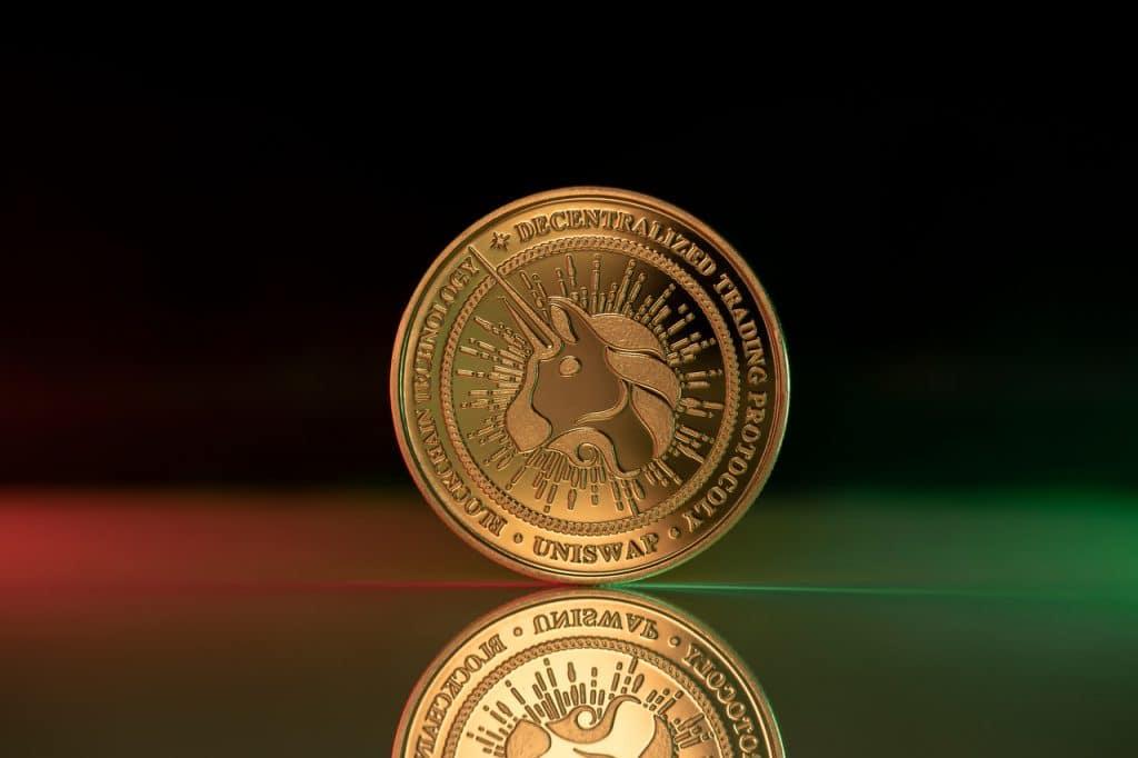 Ilustração de moeda digital Uniswap
