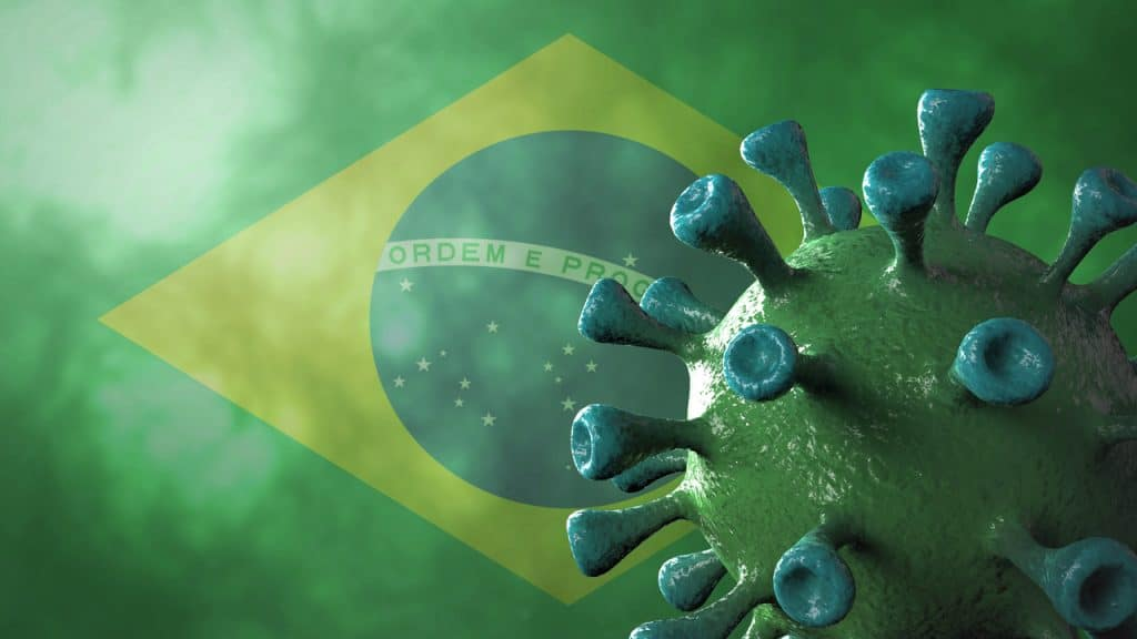 Ilustração de variante brasileira do coronavírus