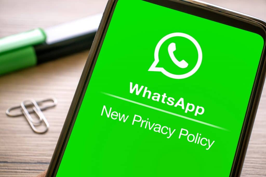 Novos termos de privacidade do WhatsApp