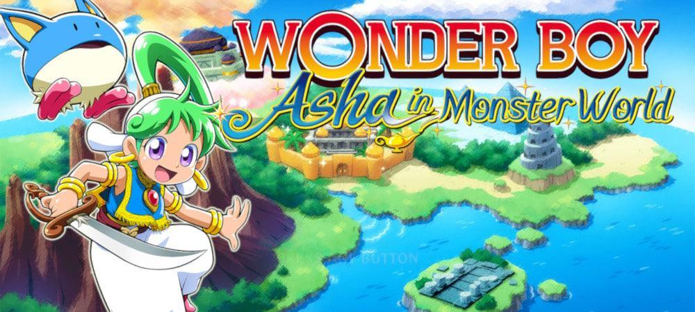 Tela de abertura de Wonder Boy: Asha in Monster World
