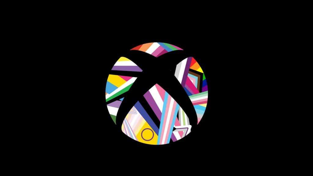 Logo do Xbox feito pela Microsoft para a comemoração do mês do Orgulho. Imagem: Xbox Wire/Reprodução
