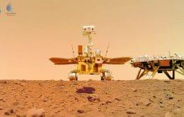 Zhurong na atividade: rover chinês manda novas imagens de Marte