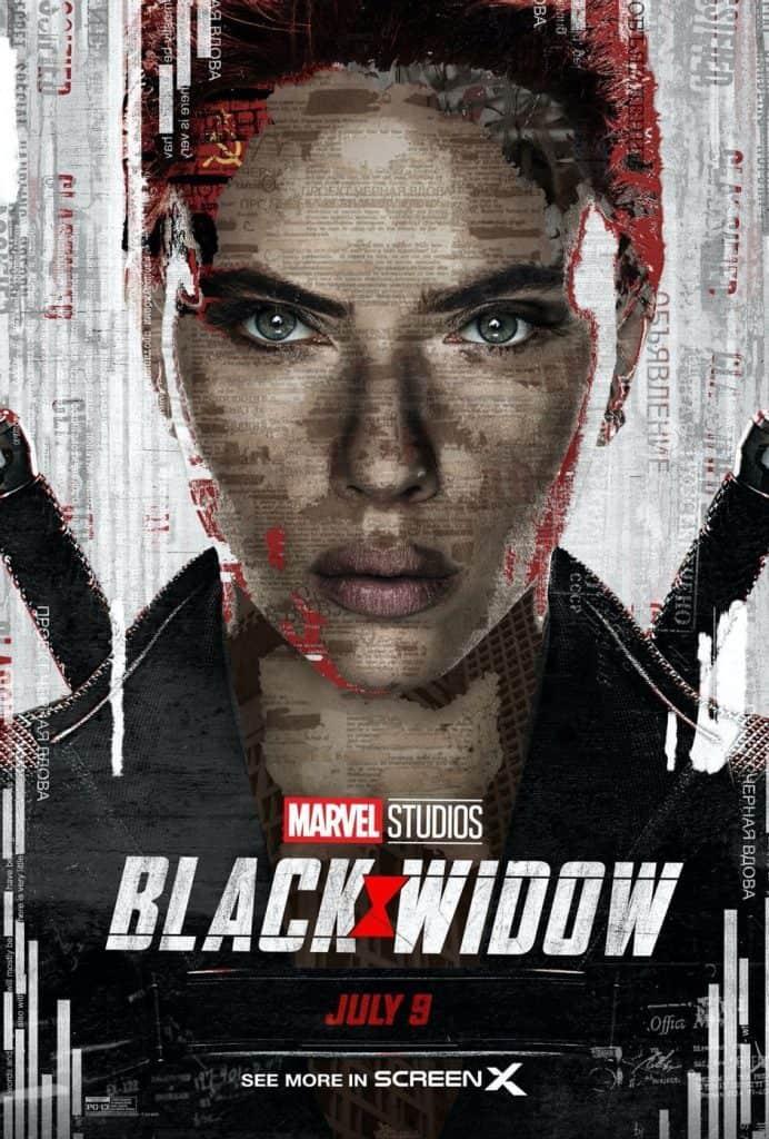 'Viúva Negra' ganha teasers promocionais, vídeo de bastidores e vários cartazes. Imagem: Imagem: Marvel Studios/Divulgação
