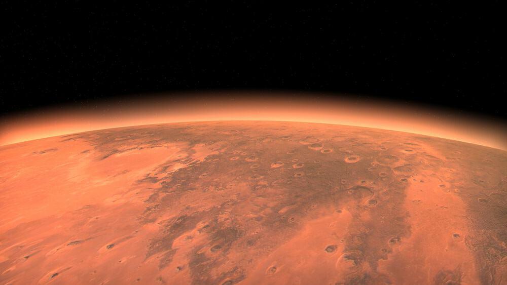 Imagem mostra o planeta vermelho visto do espaço: recentemente, um orbitador da ESA falhou em identificar o gás metano na superfície de Marte