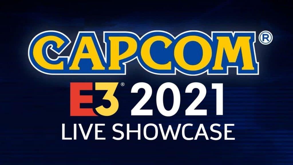 Imagem promocional de divulgação da conferência da Capcom da E3 2021