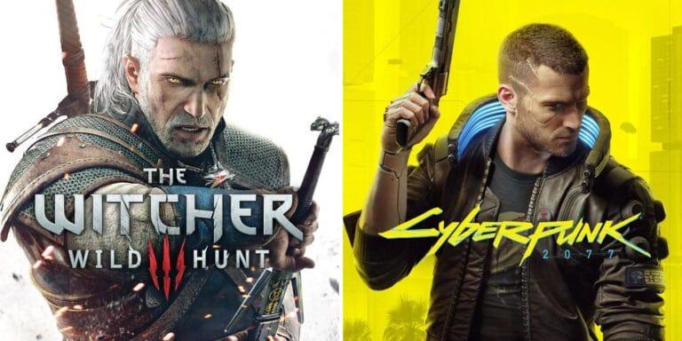 Códigos-fonte roubados de 'Cyberpunk 2077' e 'The Witcher 3' vazaram na internet. Imagem: Montagem/Olhar Digital