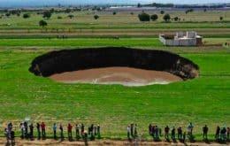 Cratera no México chega a 124 metros; buraco gigante engoliu uma casa e dois cachorros