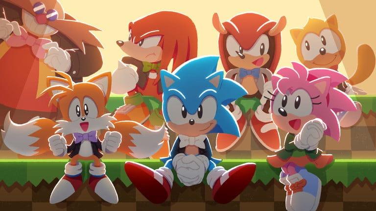 Arte especial feita pela Sega para o marketing do concerto de 30 anos de 'Sonic'. Imagem: Divulgação