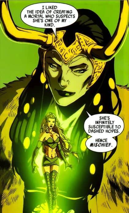 Sylvie Lushton ganha poderes porque Loki decidiu que sim. Imagem: Reprodução/Marvel Comics