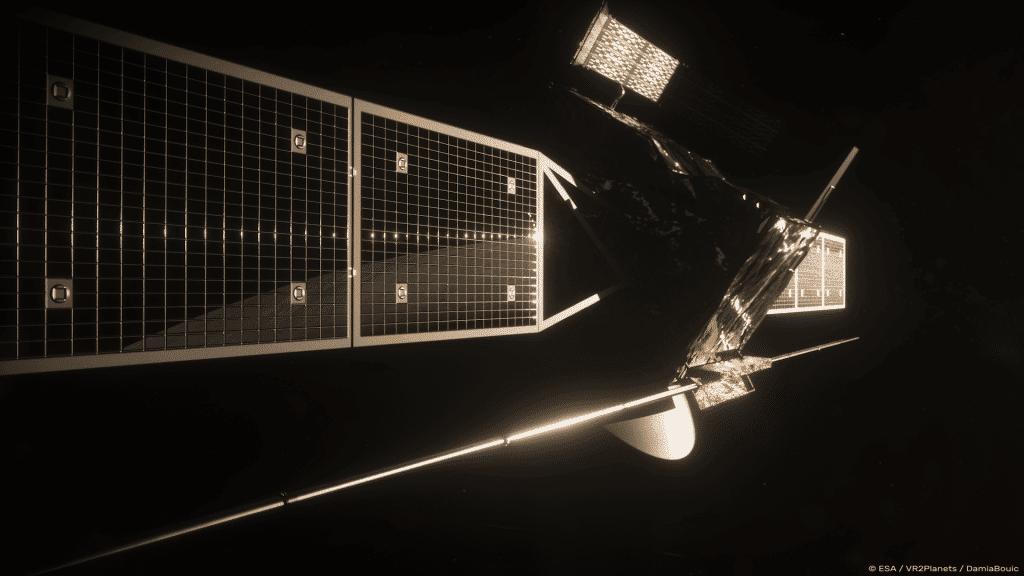 Ilustración de cómo se vería la nave espacial de la misión EnVision to Venus