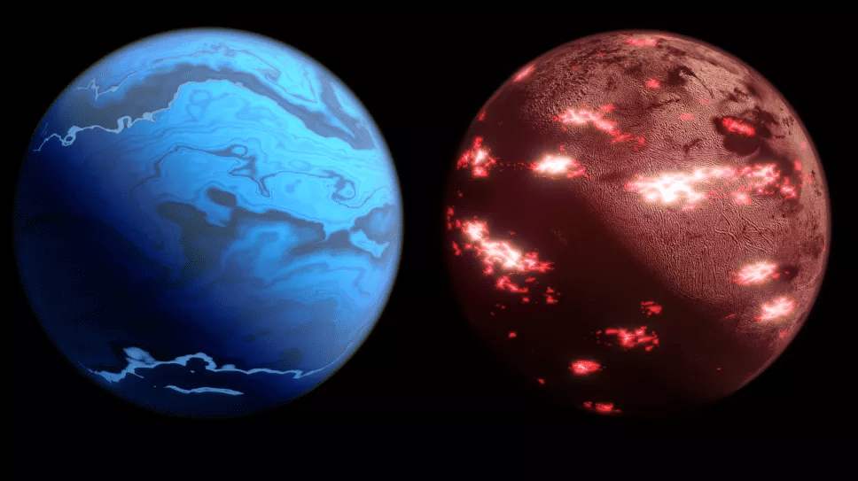 Drawing examples of exoplanets to be observed by the Twinkle mission