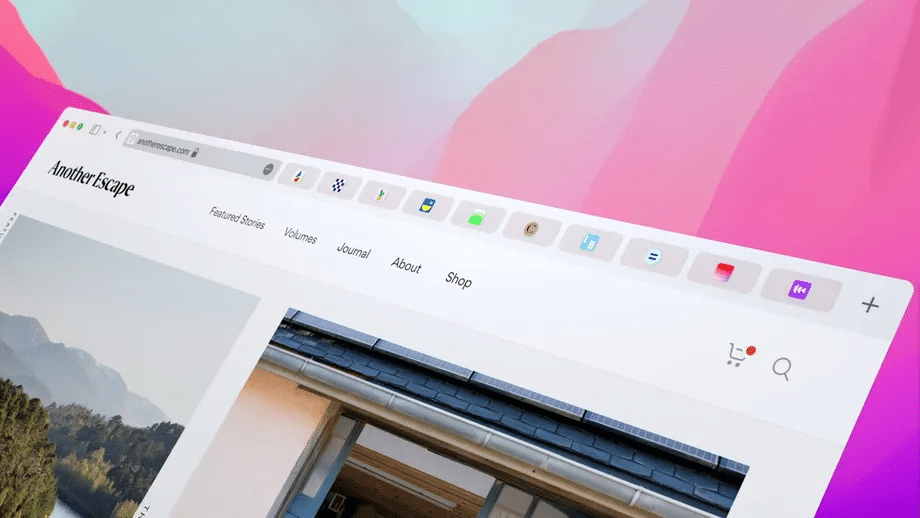 Imagem capturada da WWDC21, onde a Apple apresentou o macOS Monterrey e uma versão mais limpa do navegador Safari
