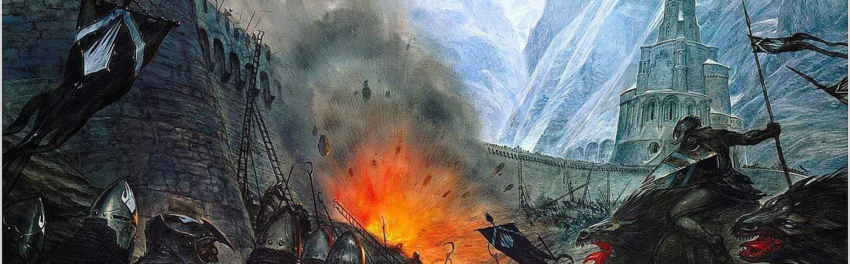 Ilustração da Batalha do Abismo de Helm, feita por John Howe. Imagem: John Howe/Reprodução