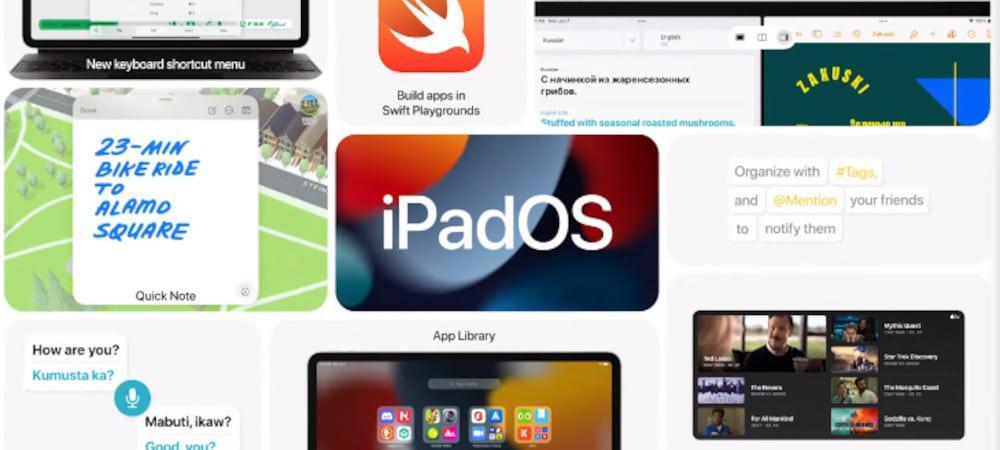 Ilustração do iPadOS 15