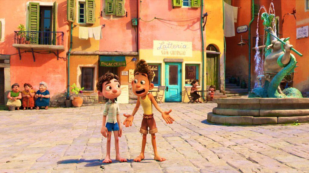 'Luca' se passa entre o fim dos anos 1950 e o início dos anos 1960. Imagem: Disney/Pixar/Divulgação