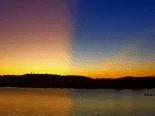 Céu multicolorido: Fenômeno atmosférico transforma o pôr do sol em Búzios, no RJ