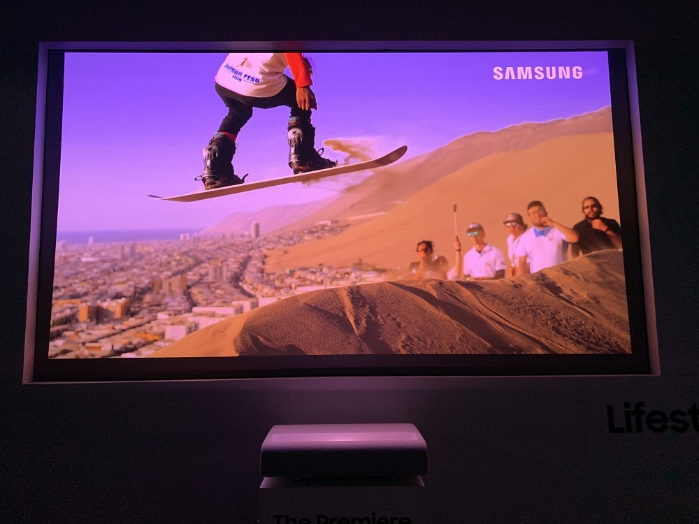 projeção Samsung The Premiere LSP9T