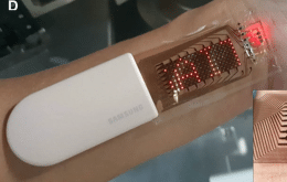 """Direct measurement : Samsung tests """"stretchable"""" Oled screen to apply to users' skin"""