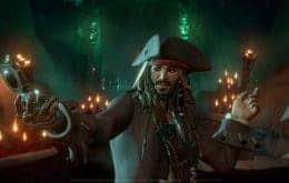 Temporada Três de 'Sea of Thieves: Uma Vida de Pirata' disponível com Jack Sparrow