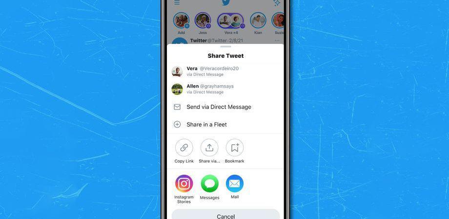 Twitter vai facilitar compartilhamento de tweets nos Stories do Instagram