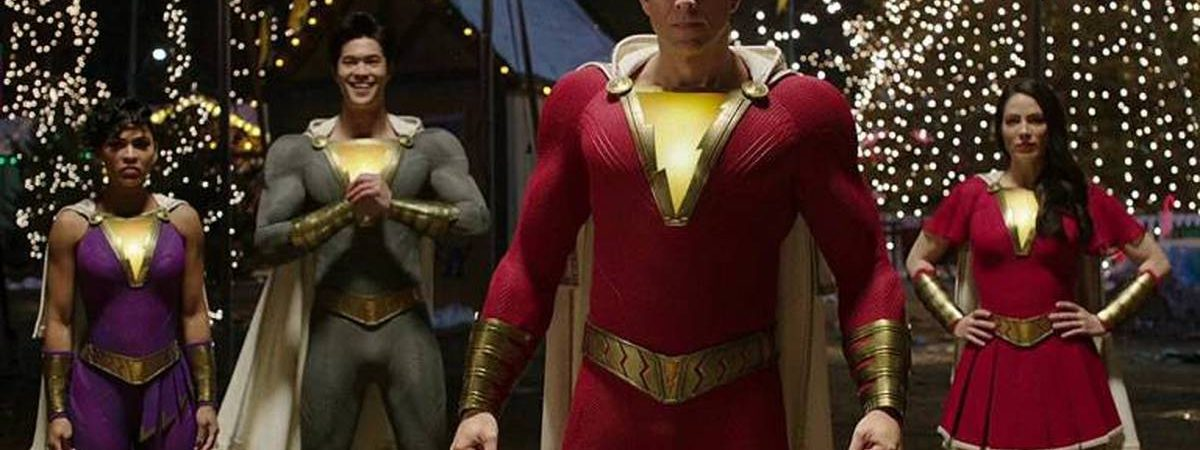 Shazam 2: diretor compartilha foto dos novos trajes da família Shazam no filme. Imagem: Warner Bros./Reprodução