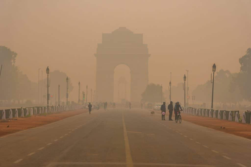 Pollution in New Delhi, capital of India, in photo 2019