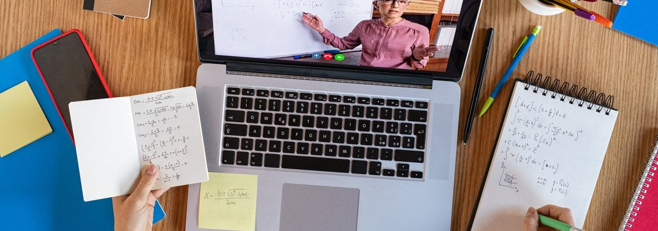 Ilustração do segmento de e-learning