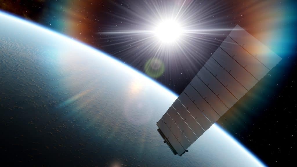 Image shows the back of a Starlink satellite. The re-entry of satellites into the atmosphere could cause problems for the ozone layer in the future, experts say