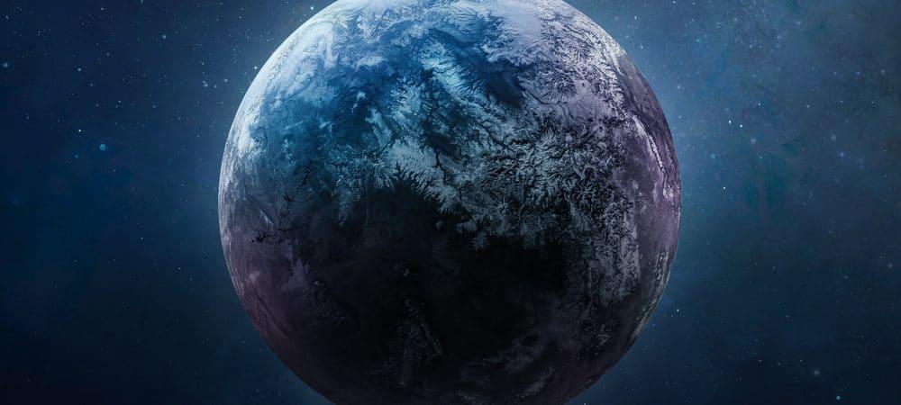 Exoplaneta no espaço