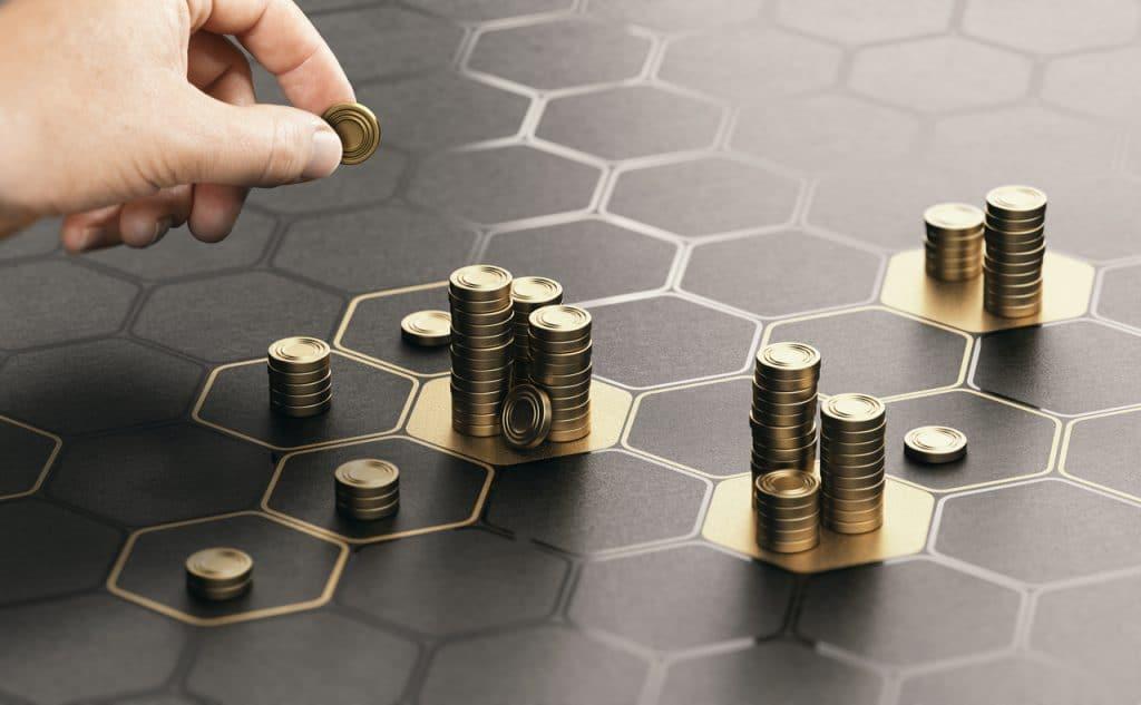 Ilustração de investimentos em startups