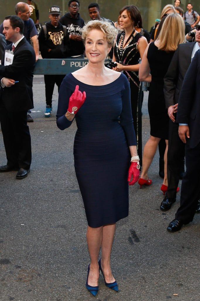 """A atriz Lisa Banes comparece à estreia mundial de """"Garota Exemplar"""" no 52º Festival de Cinema de Nova York, em 26 de setembro de 2014 . Imagem: Debby Wong / Shutterstock.com"""