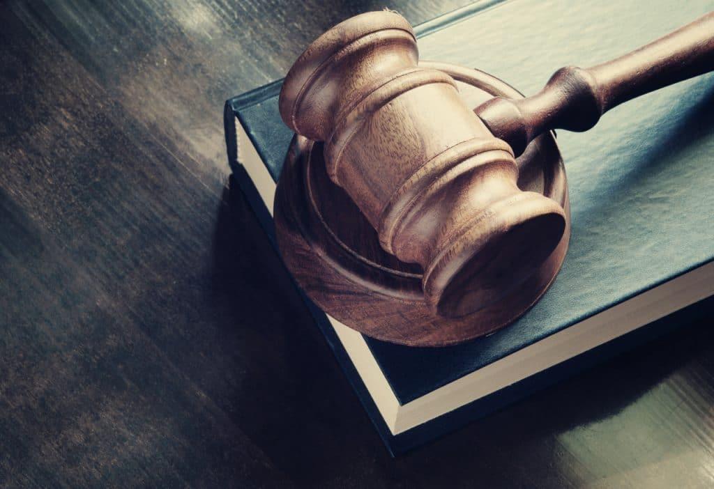 Ilustração de martelo de tribunal