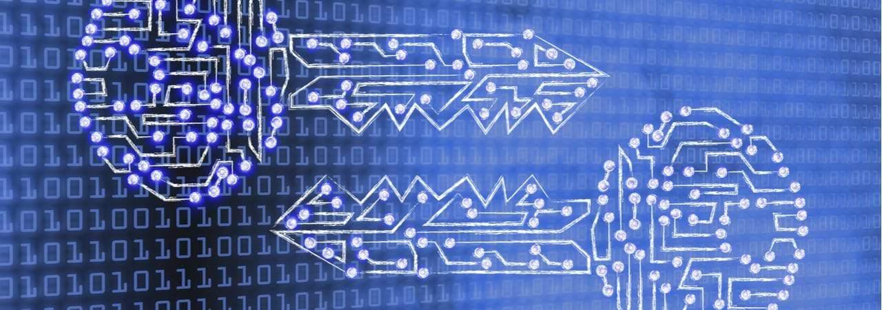 Ilustração mostra duas chaves em sentido inverso, simbolizando a segurança da criptografia
