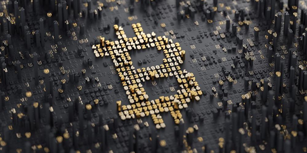 Ilustração mostra o B combinado ao cifrão, que representa a croptomoeda bitcoin