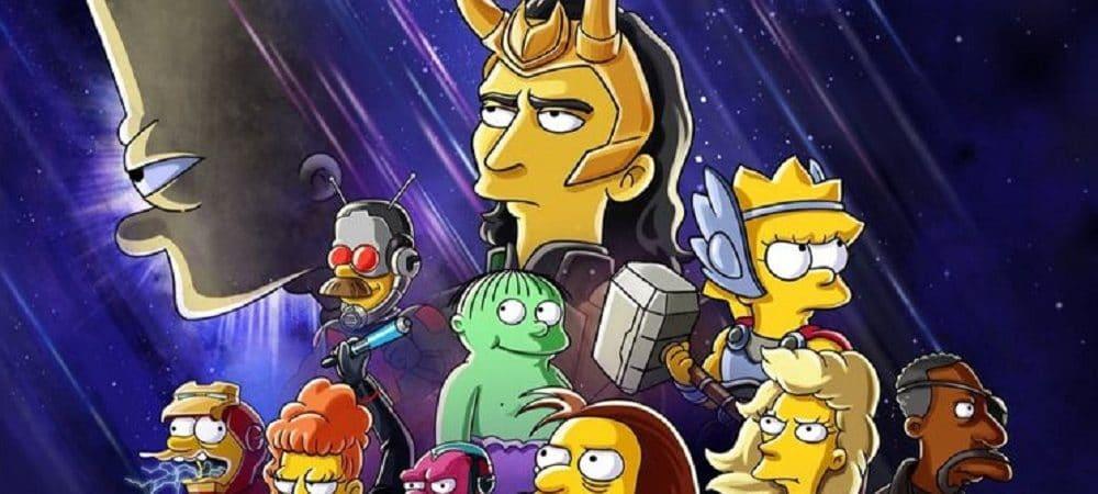 posteer animação Loki e Os Simpsons. Imagem: Divulgação/Disney