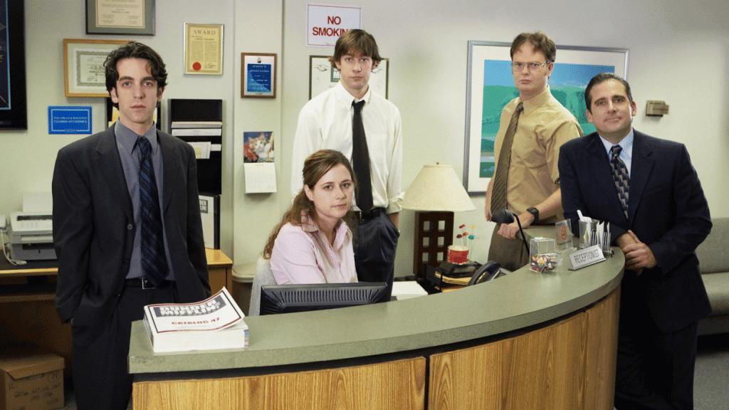 'The Office' quase teve uma música de abertura muito, mas muito diferente. Imagem: Paul Drinkwater / NBCU Photo Bank