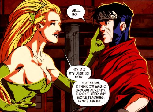 Wiccano expulsa Encantor dos Jovens Vingadores após conexão com Loki. Imagem: Marvel Comics/Reprodução
