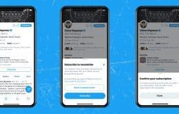 Twitter vai ganhar botão para usuários se inscreverem em newsletters