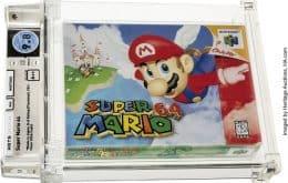 Recorde! Cartucho de 'Super Mario 64' é vendido por US$ 1,56 milhão